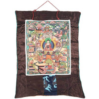 IndianShelf Handmade Silk Cloth Buddha Life Thangka Painting NTP-20