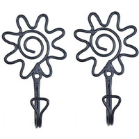 IndianShelf Handmade Floral Wrought (Set of Pieces) Iron Wall Hooks Cloth Coats Hangers Key Accessories Holders Online