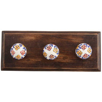 IndianShelf Handmade Mustarded Tiny Flower Wooden Wall Hooks Cloth Coats Hangers Key Accessories Holders Online
