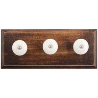 IndianShelf Handmade White Black Crackle Wooden Wall Hooks Cloth Coats Hangers Key Accessories Holders Online