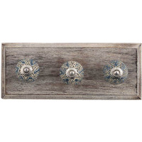 IndianShelf Handmade Grey Leaf Wooden Wall Hooks Cloth Coats Hangers Key Accessories Holders Online