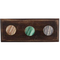 IndianShelf Handmade 2 Piece Round Mix Wooden Wall Hooks Cloth Coats Hangers Key Accessories Holders Online