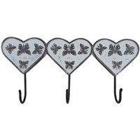 IndianShelf Handmade 2 Piece Butterfly Ceramic Wall Hooks Cloth Coats Hangers Key Accessories Holders Online