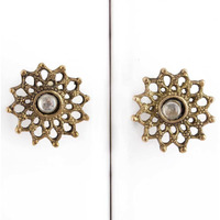 IndianShelf Handmade Iron Multicolor Flower Artistic Designer Drawer Knobs/Cabinet Pulls