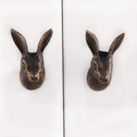 IndianShelf Handmade Iron Antique Rabbit Artistic Designer Drawer Knobs/Cabinet Pulls
