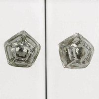 IndianShelf Handmade Glass Multicolor Pyramid Fine Cut Artistic Designer Drawer Knobs/Cabinet Pulls
