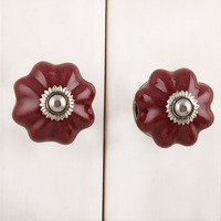 IndianShelf Handmade 4 Piece Ceramic Cherry Melon Solid Decorative Room Drawer Knobs/Cabinet Door Pulls