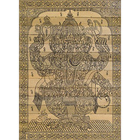 Lord Ganesha Made of Elephants - collapsible