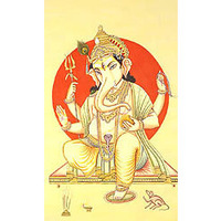 Lord Ganesha with Red Aureole