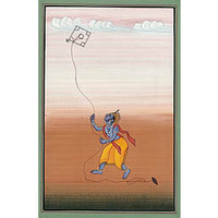 Shri Krishna Flying  ...