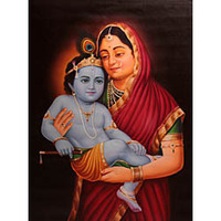 Baby Krishna in the  ...
