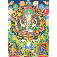 (Tibetan Buddhist Goddess) The Patron Deity of Om Mani Padme Hum