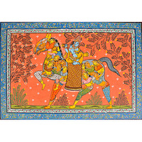 Lord Krishna Seated on Nari Ashva (Horse Made of Women)
