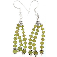 Afghani Peridot Shower Earrings