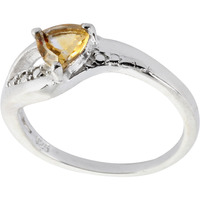 Faceted Citrine Ring ...