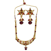 Red Polki Necklace S ...