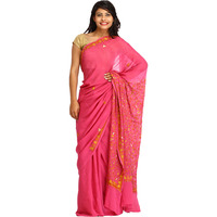 Red-Violet Sari from ...