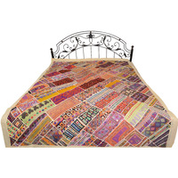 Antiquated Rabari Embroidered Bedcover from Sindh with Patchwork and Mirrors
