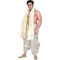 Cream Dhoti and Anga ...