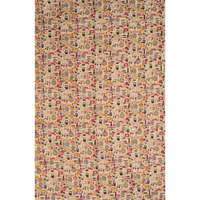 Alabaster-Gleam Fabric from Jharkhand with Modern Print