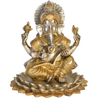 Ganesha Seated on Tr ...