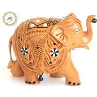 Wooden Elephant Stat ...