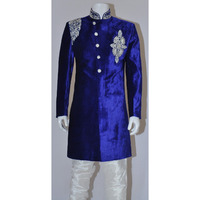 Rajwada Men's Indian Indo Western Sherwani 2pc Suit (Worldwide Post)