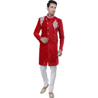 Rajwada Men's Indian Indo Western Sherwani 2pc Suit (Worldwide Post) (Size: L)