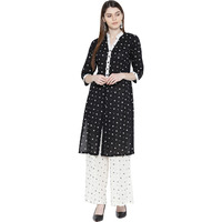 Black Cotton Kurta P ...