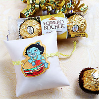Cartoon Kids Rakhi w ...