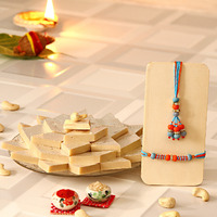 Beads Rakhi with Kaj ...