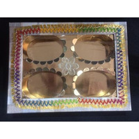 4-Comp DryFruit Empty Boxes - Oval Shape inside