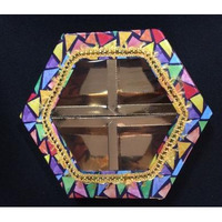 4-Comp DryFruit Empty Hexagon Shape Boxes