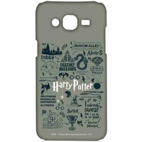 Harry Potter Infographic Grey - Sublime Case for Samsung On5