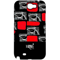 Masaba Red Line Horses - Sublime Case for Samsung Note 2