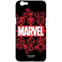 Marvel Iconic Symbols Black - Sublime Case for Oppo F1s