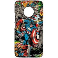 Comic Captain America - Sublime Case for Moto G5 Plus
