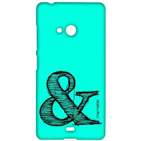 AND Teal - Sublime Case for Microsoft Lumia 540