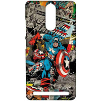 Comic Captain America - Sublime Case for Lenovo Vibe K5 Note