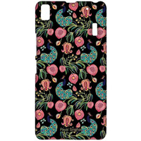 Payal Singhal Anaar and Mor Black - Sublime Case for Lenovo A7000