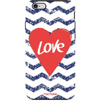 Chevron Love - Tough Case for iPhone 6S Plus