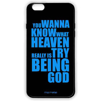 Try Being God Black - Lite Case for iPhone 6 Plus