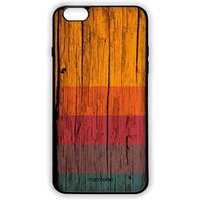 Wood Stripes Chrome - Lite Case for iPhone 6 Plus