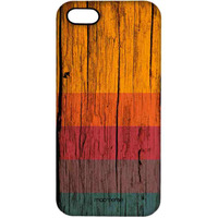 Wood Stripes Chrome - Pro Case for iPhone 5/5S