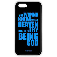 Try Being God Black - Lite Case for iPhone 5/5S