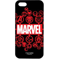 Marvel Iconic Symbols Black - Sublime Case for iPhone 4/4S