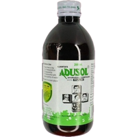 Adusol Ayurvedic Syrup with Tulsi (Relief from Cold & Sore Throat) - 200 ml