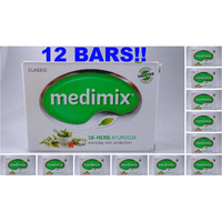 (12 Bars) Medimix Classic Ayurvedic Soap 18 Herbs Skin Protection - 125 Gm Each