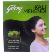 Godrej Black Henna Powder Hair Dye Amla Shikakai (8 Pack) - 3 Gm Each
