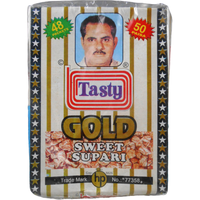 Tasty Gold Sweet Supari Sweet Betel Nuts (48 Packets) - 100 Gm
